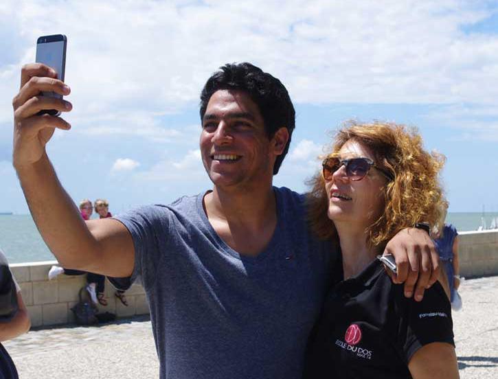 Ecole du dos selfie